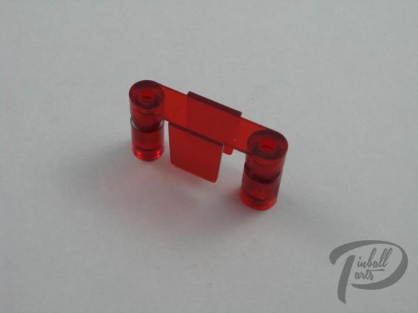 Kugeldurchlauf rot transparent