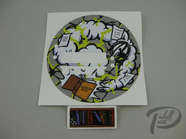 Bookcase Decal 2er Set The Addams Family
