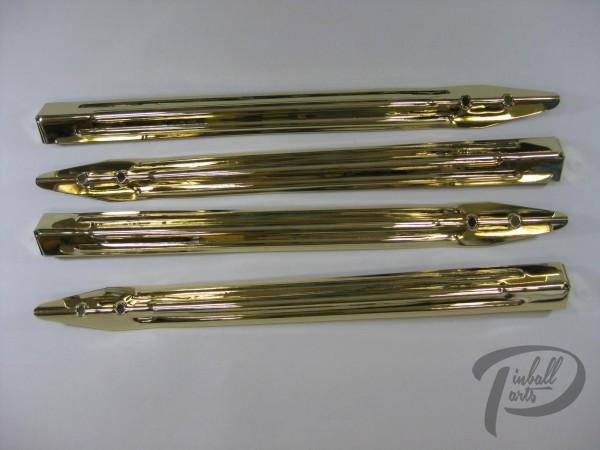 4 Flipperbeine gold Hochglanz