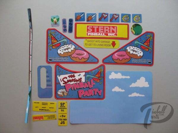 Aufkleber 21er Set The Simpsons Pinball Party 802-500-77