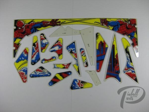 Plastik Satz Spiderman Gottlieb 18-teilig