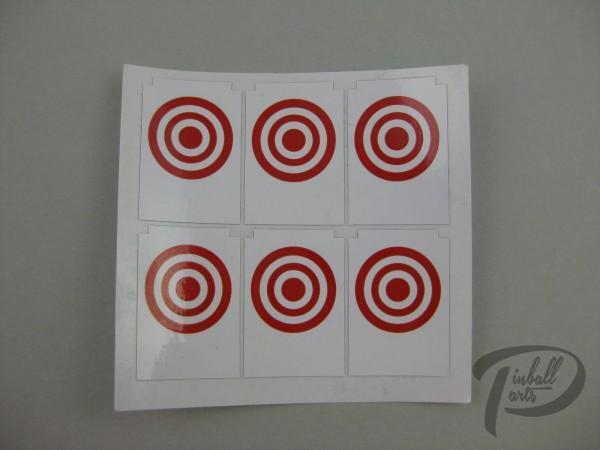 Target Decal Bullseye rot 6er Set