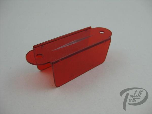 Kugeldurchlauf rot transparent B-Ware